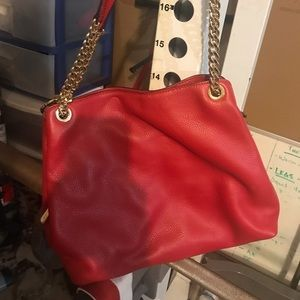 Michale Kors Red Shoulder Bag